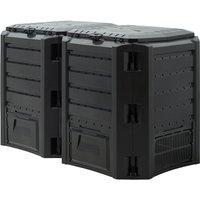 Composter Garden Bin 380L 800L 1200L 1600L Waste Converter Black Composting Unit 800 L