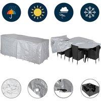 Kingsleeve - Protective Garden Cover Protection Tarpaulin Patio Bistro Furniture Covering PE Sitzgruppe 8+1 (de)