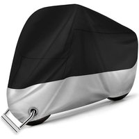 Protective Cover for Motorcycle - Waterproof Breathable Motorcycle Covers of 210D Oxford Fabric with 2 Lock Holes Anti-Theft-UV / Snow / Rain / Rust