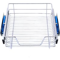 Pull Out Wire Basket Kitchen Cabinet Larder Organizer Cupboard Drawer, 40CM - LIVINGANDHOME