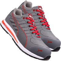 Puma 643070 Xelerate Knit Low Safety Trainer - Grey/Red Size 11