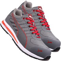 Puma 643070 Xelerate Knit Low Safety Trainer - Grey/Red Size 12