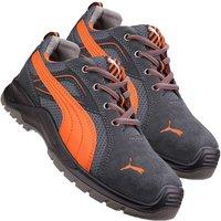 Puma 643620 Omni Flash Low Safety Trainer- Black/Orange Size 7