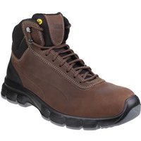 Puma Mens Condor Mid Lace Up Leather Safety Boots (6 UK) (Brown)