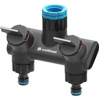 Cellfast - Double Garden Patio Water Distributor 2 Hose Outputs Ergonomic Tap Connectors