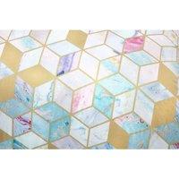Rapport - Quartz King Size Duvet Cover Set Geometric Multicoloured Bedding Bed Set