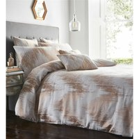 Quartz Shimmer Jacquard Super King Size Duvet Cover Set Bedding Quilt Rose Gold - BEDMAKER