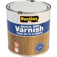 Rustins AVSC2500 Quick Dry Varnish Satin Clear 2.5 Litre