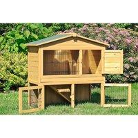 Rabbit hen house in wood 102x55x100 cm - MERCATOXL