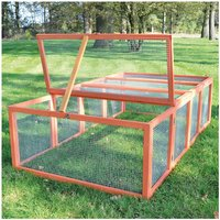 Rabbit hutch / chicken coop rabbit run, guinea pig hutch, chicken hut 100 x 181 x 48 cm - MERCATOXL