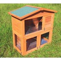 Rabbit hutch / chicken coop rabbit run, guinea pig hutch, chicken hut 100 x 45 x 90 cm - MERCATOXL
