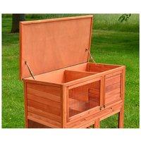 Rabbit hutch / chicken coop rabbit run, guinea pig hutch, chicken hut 115 x 64 x 106 cm - MERCATOXL