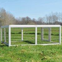 Rabbit hutch / chicken coop rabbit run, guinea pig hutch, chicken hut 116 x 112 x 45 cm - MERCATOXL