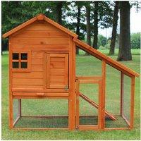 Rabbit hutch / chicken coop rabbit run, guinea pig hutch, chicken hut 138 x 65 x 120 cm - MERCATOXL