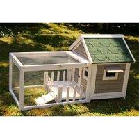 Rabbit hutch / chicken coop rabbit run, guinea pig hutch, chicken hut 146 x 74 x h82.5 cm - MERCATOXL