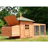 Rabbit hutch / chicken coop rabbit run, guinea pig hutch, chicken hut 195 x 73,5 x 98 cm - MERCATOXL