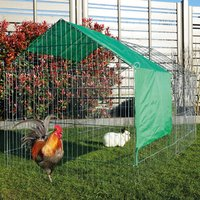 Rabbit hutch / chicken coop rabbit run, guinea pig hutch, chicken hut 2,20 x 1,02 x 0,85 m - MERCATOXL