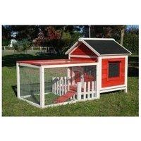 Rabbit hutch / chicken coop rabbit run, guinea pig hutch, chicken hut 82 cm x 63.5 cm x 49.5 cm - MERCATOXL