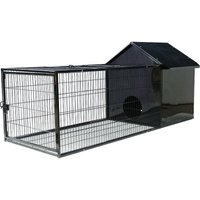 Rabbit Hutch Large Pet Habitat House Animal Cage w/ Run Area - LIVINGANDHOME