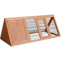 Rabbit hutch Open enclosure Spruce wood Barn Pet hutch Open pen - WILTEC