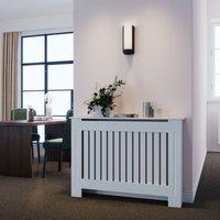 Radiator Covers Modern Slat White Painted Cabinet Radiator Shelve for Living Room/Bedroom/Kitchen, Vertical, MEDIUM