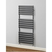Finsbury Oval Steel Tube Towel Rail 965mm x 500mm Electric Only - Standard Sparkling Black - Rads 2 Rails