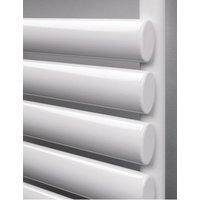Finsbury White Wide Steel Towel Rail 480mm x 1200mm - Dual Fuel Standard - Rads 2 Rails