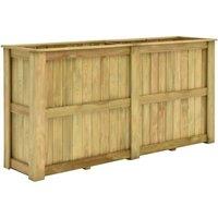 Zqyrlar - Raised Bed 196x50x100 cm Impregnated Pinewood - Brown
