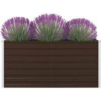 Raised Garden Bed 160x80x45 cm Galvanised Steel Brown