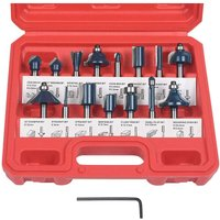 Raised Router, 15 PCS Straight Groove Cutter, Groove Cutter Set Wood Cutter Woodworking Tool Woodworking Tool (Plastic Case)