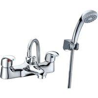 Rak Ceramics - RAK Basic Bath Shower Mixer with Shower Head and Hose - Chrome
