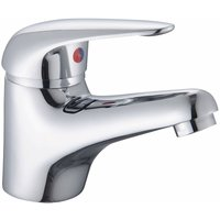 RAK Basic Mono Basin Mixer Tap with Clicker Waste - Chrome - RAK CERAMICS