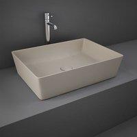 Rak Ceramics - RAK Feeling Rectangular Countertop Wash Basin 500mm Wide - Matt Cappuccino