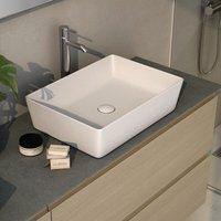 Rak Ceramics - RAK Feeling Rectangular Countertop Wash Basin 500mm Wide - Matt White