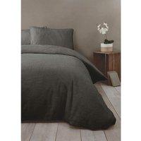 Charcoal Fleece Double Duvet Cover Bedding Bed Set Quilt Cover - Rapport