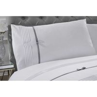 Rapport Clarissa Duvet Cover Bed Set, White, Double