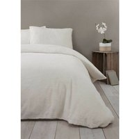 Rapport Cream Fleece King Duvet Cover Bedding Bed Set Quilt Cover Warm