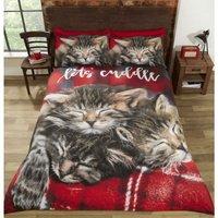 Cuddle Cats Duvet Set, Multi, Double-200 x 200 cms - Rapport