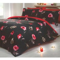 Rapport Darcy Duvet Set, Single-Red, Polyester-Cotton