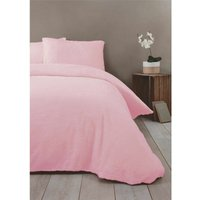 Rapport Pink Fleece Single Duvet Cover Bedding Bed Set Quilt Cover Warm