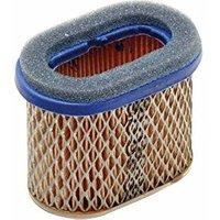Ratioparts - Filtro dell'Aria Ovale per Tosaerba Briggs & Stratton, 100 x 62 x 78 mm, Colore: Giallo
