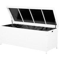 Beliani - Garden Deck PE Rattan Storage Box White 158 x 63 cm Modena