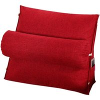 Reading and TV Pillow, Back Wedge Cushion Pillow with Adjustable and Pockets,Triangle Back Pillow,Back Neck Support Bed Pillow,Sofa Rest