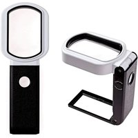 Briday - Reading Magnifier with 25 x 8X Light, 9 Rechargeable LEDs, Standing Reading Light and Manual Watch, Magnifying Magnifier for Elderly, Kids,