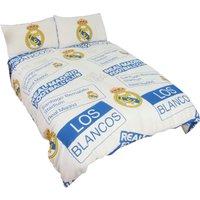 Childrens/Kids Official Patch Football Crest Duvet Set (Single) (White) - Real Madrid Cf