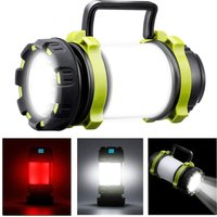 Rechargeable LED camping lamp, 1000 lumens Super powerful campsite lamp, 6 IPX5 sealed functions, is suitable for night fishing, hunting, hiking,
