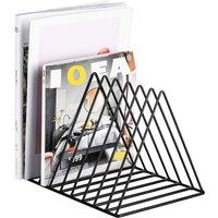 Briday - Record Rack,Magazine Holder,Newspapers Holder?Letters Storage,Desktop File Sorter Organizer Triangle Bookshelf Decor Home Office,Photography