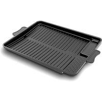 Rectangle Multifunctional Korean Frying Pan Medical Stone Non-stick Pan Black Barbecue Pan,model:Black