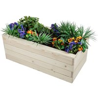 Rectangle Wooden Vegetable Planter Pot Timber Trough Boxes