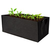 Rectangle Garden Grow Bags Planter Box Planting Beds Grow Pots with Handles Breathable Felt Planter Bags for Carrots Onions Herbs Flowers Vegetables